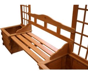 gd world rosenbogen aus holz mit bank und pflanzeinsatz. Black Bedroom Furniture Sets. Home Design Ideas