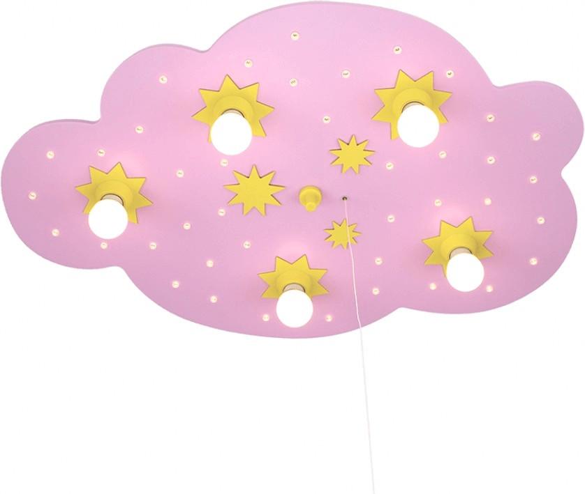 Elobra Sternenwolke 5-flg./40 LED rosa