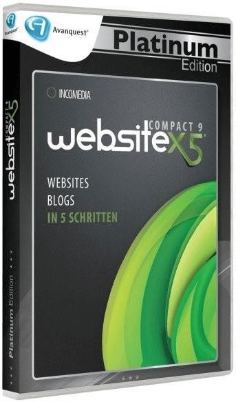 Incomedia WebSite X5 Compact 9 Platinum (DE) (Win)