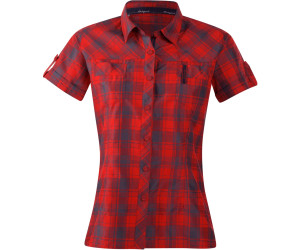 Bergans Leknes Lady Shirt SS Red / Navy Check