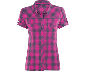 Bergans Leknes Lady Shirt SS Hot Pink / Navy Check