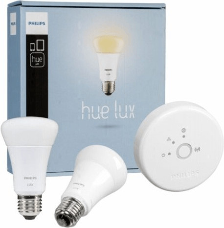 Philips Hue Lux Warmweiß 2er Starter-Kit 9W E27