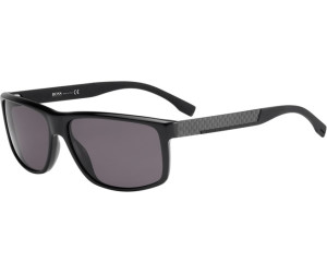 BOSS Hugo Boss Hugo Boss Herren Sonnenbrille Boss 0637/S NR Hxe, Schwarz (Black Carbon/Brown Grey), 60