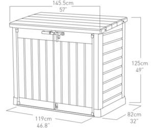 Keter Max Mülltonnenverkleidung  Box Mülltonnenschrank Gerätebox Mülltonnen