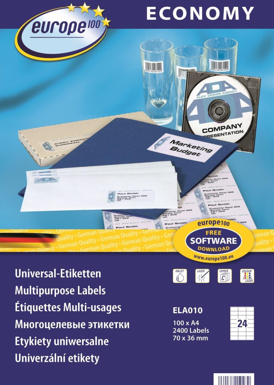Image of europe 100 ELA010