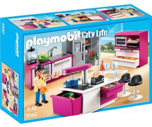 Playmobil cuisine avec lot 5582 au meilleur prix sur for Salle a manger playmobil city life