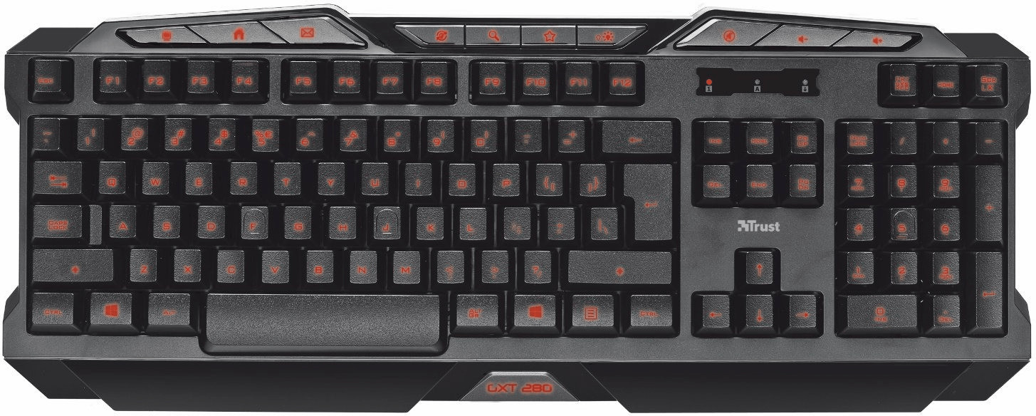 Trust GXT 280 Illuminated Gaming Keyboard ES
