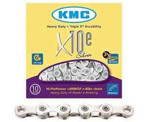 KMC e10 Silver 114L Fahrrad Kette e10s E Bike Trekking 10 fach Kettenschloss