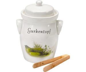 Schmitt Gurkentopf mit Holzzange 3,5 l