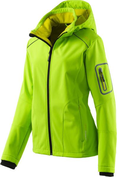 CMP Softshelljacke Veste Woman Jacket Zip Hood gris coupe-vent Imperméable
