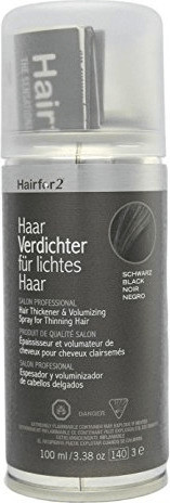 Hairfor2 HaarVerdichter für lichtes Haar - Schwarz (100ml)