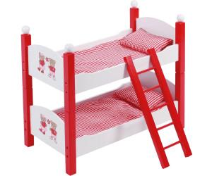 Etagenbett Puppe : Einzel etagenbett pink aus holz mit passender karo bettwäsche und
