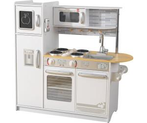 Wood Play Kitchen White kidkraft modern country kitchen 53222 uk