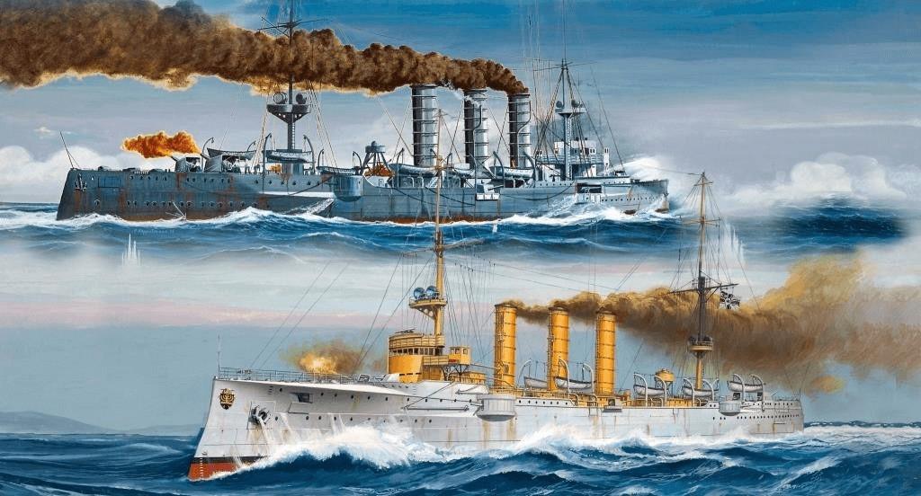 Revell German WWI Light Cruisers SMS Dresden & ...
