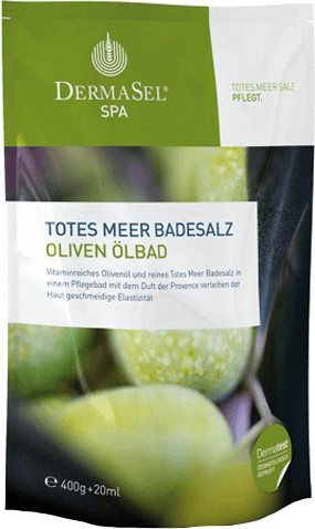DermaSel Totes Meer Badesalz (400 g) Olive Ölba...