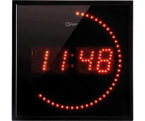 Orium pendule led rouge au meilleur prix sur - Pendule rouge design ...