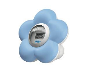 Avent Baby Bath and Room Flower Thermometer (Blue)