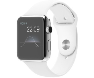 Apple Watch 42mm Stainless Steel, White Sport Band