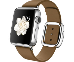 Apple Watch 38mm Stainless Steel, Brown Modern Buckle