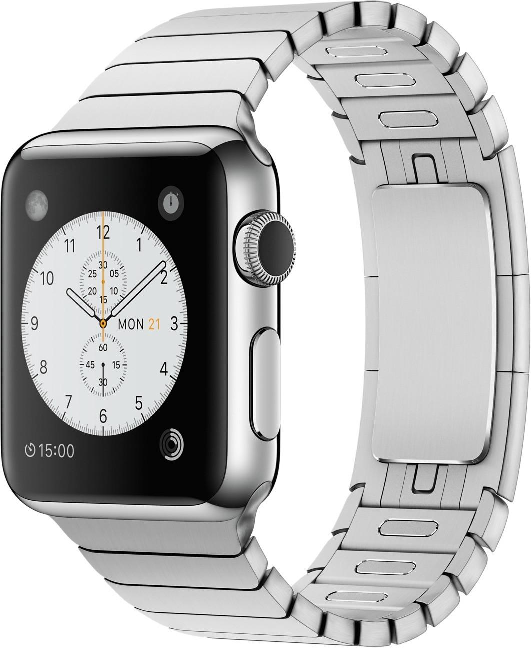 Apple Watch 38mm cassa in acciaio con bracciale a maglie