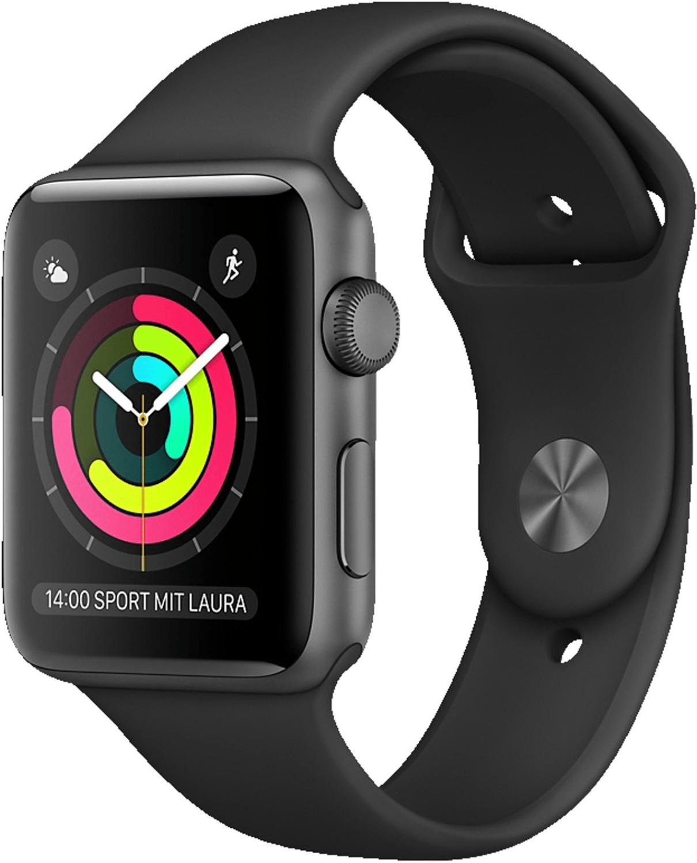Apple Watch 38mm cassa in acciaio con cinturino sport nero