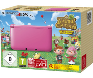nintendo 3ds xl rose animal crossing new leaf au meilleur prix sur. Black Bedroom Furniture Sets. Home Design Ideas