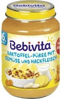 Bebivita Kartoffel-Püree mit Gemüse und Hackfleisch (190 g)