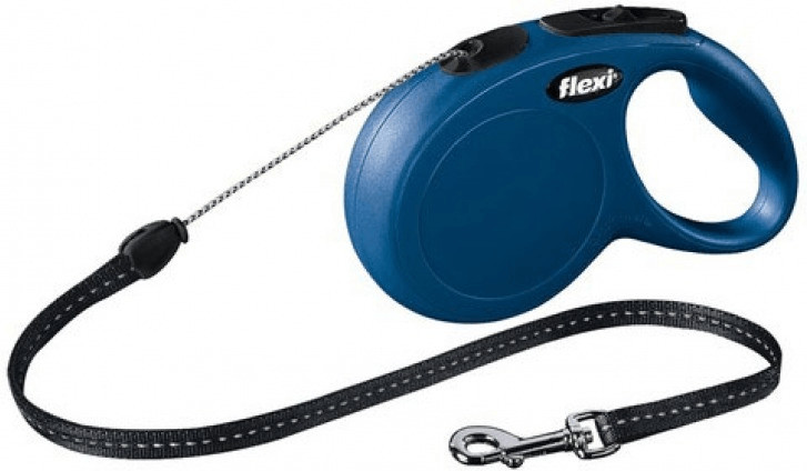 Flexi New Classic Seil-Leine S 8 m blau