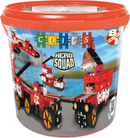 Clics Hero Squad - Feuerwehr Eimer 8 in 1