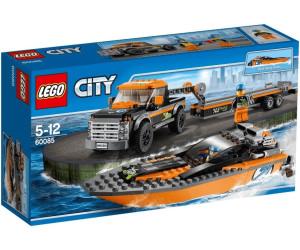 lego city 4x4 with powerboat 60085 - Lego City Bateau