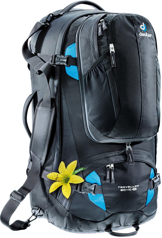 Deuter Traveller 60+10 SL black/turquoise
