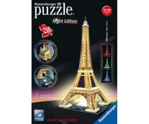 Ravensburger 125791 Eiffelturm Bei Nacht Puzzle 3d-puzzle Bauwerk Night Edition, Puzzles & Geduldspiele