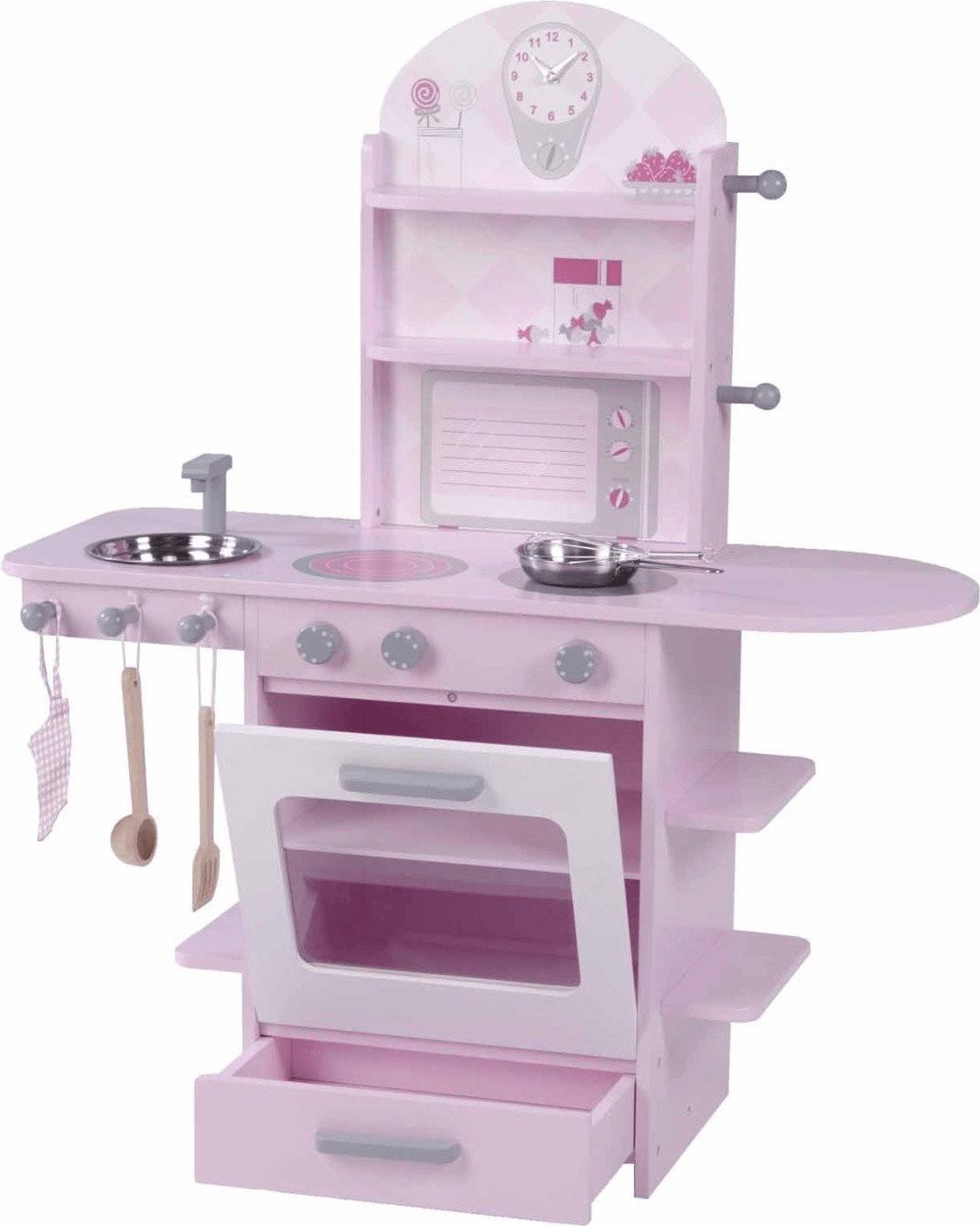 Roba Küche mit Zubehör rosa
