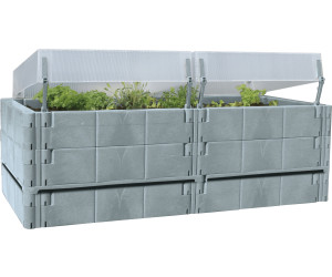 juwel terrassen hochbeet balkon hochbeet basalt ab 158. Black Bedroom Furniture Sets. Home Design Ideas