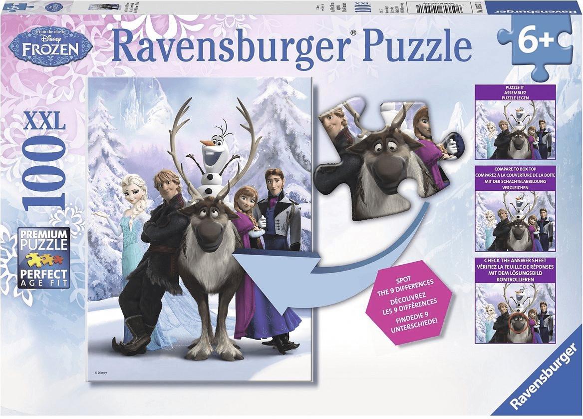 Ravensburger Disney Frozen - Finde den Unterschied (100 Teile XXL)