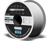 1m SAT Kabel HDTV 90° gewinkelt 135dBPremium SAT 1,0m Meter CSL