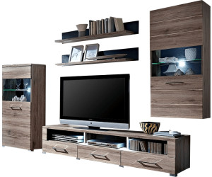innostyle delay 82 wohnwand eiche san remo dunkel ab 315. Black Bedroom Furniture Sets. Home Design Ideas