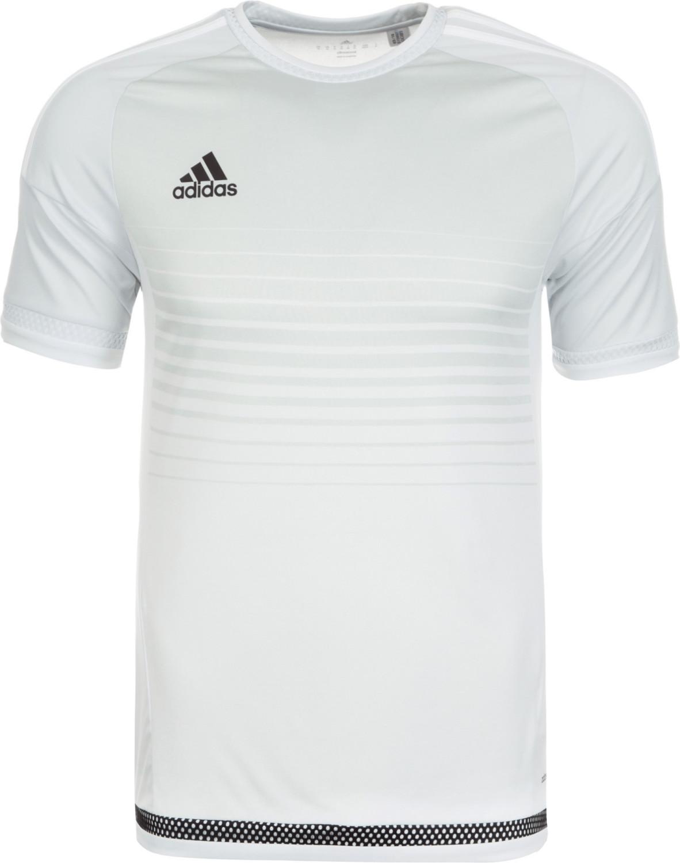 adidas T-Shirt Campeon 15 Jersey Camiseta, Hombre, Gris Gricla/Blanco, 140