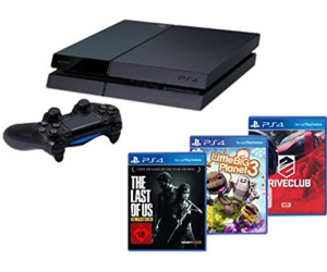 Sony PlayStation 4 (PS4) 500GB + DriveClub + The Last of Us: Remastered + LittleBigPlanet 3 - Player Bundle