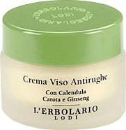 L'Erbolario Crema antiarrugas con calendula, zanahoria y ginseng (30 ml)