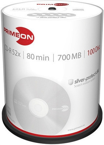 Primeon CD-R Silver-Protect-Disc 700MB 52x 100e...