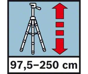 """BOSCH Aluminiumstativ BT 250 Arbeitshöhe 97,5-250 cm Gewinde 1//4/"""""""