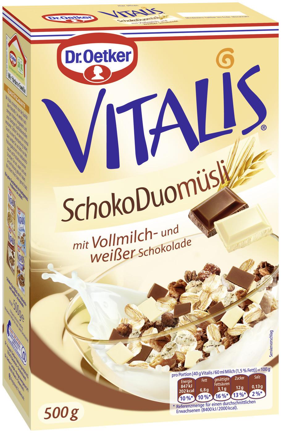 Dr. Oetker Vitalis Schoko Duo Müsli (500 g)