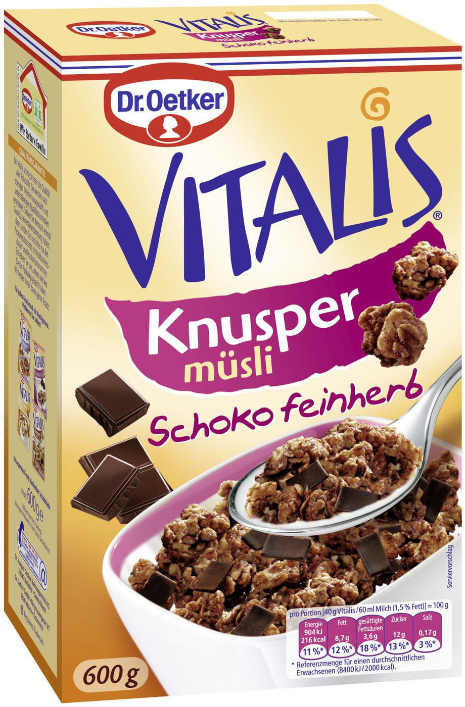 Dr. Oetker Vitalis Knusper Schoko Feinherb (600 g)