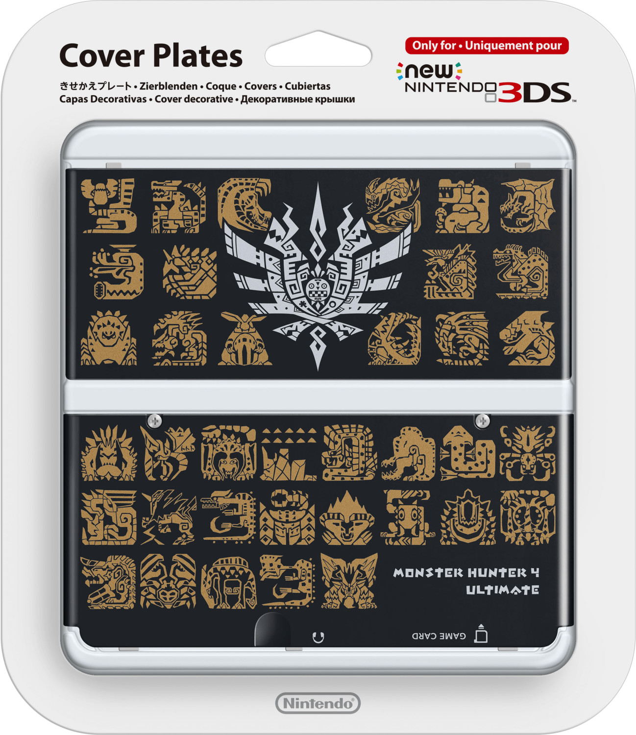 Nintendo New 3DS Cubiertas - Monster Hunter 4 Ultimate negro