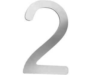 cmd hausnummer 2 edelstahl ab 14 32 preisvergleich. Black Bedroom Furniture Sets. Home Design Ideas