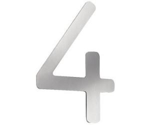cmd hausnummer edelstahl ab 14 32 preisvergleich bei. Black Bedroom Furniture Sets. Home Design Ideas