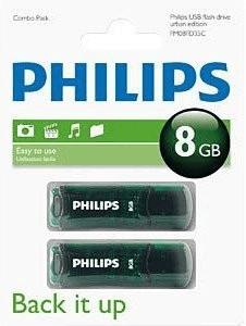 Philips USB-Flashlaufwerk Doppelpack 8GB