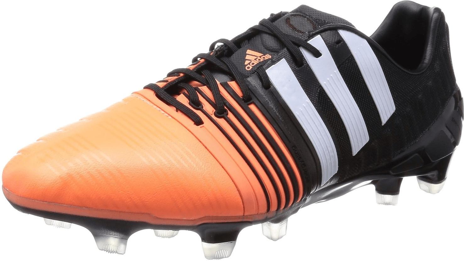 Adidas Nitrocharge 1.0 Fg Negro Naranja Hombre Botines de Fútbol con Tapones