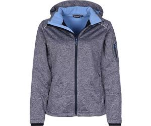 CMP Women Softshell Jacket Zip Hood (3A05396) Navy Melange